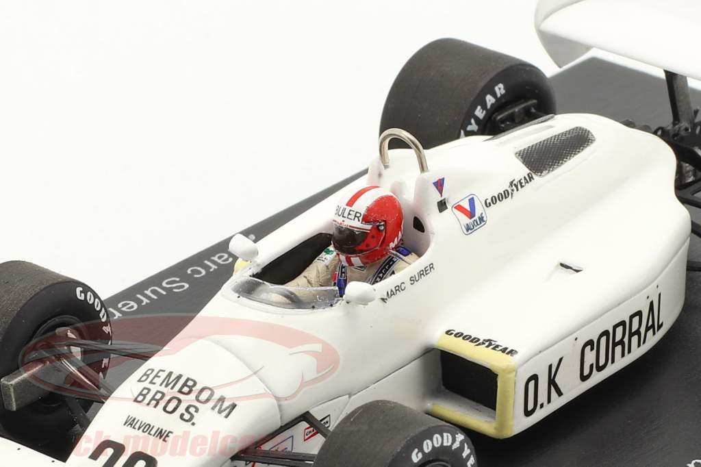 Marc Surer Arrows A6 #29 Frans GP formule 1 1983 1:43 Spark