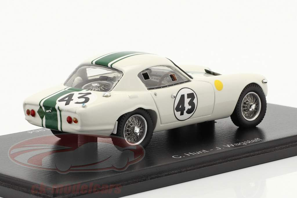 Lotus Elite #43 ganador GT1300 24h LeMans 1964 Hunt, Wagstaff 1:43 Spark