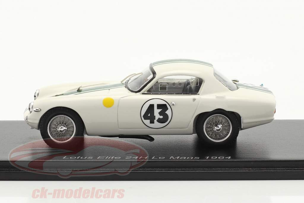 Lotus Elite #43 gagnant GT1300 24h LeMans 1964 Hunt, Wagstaff 1:43 Spark