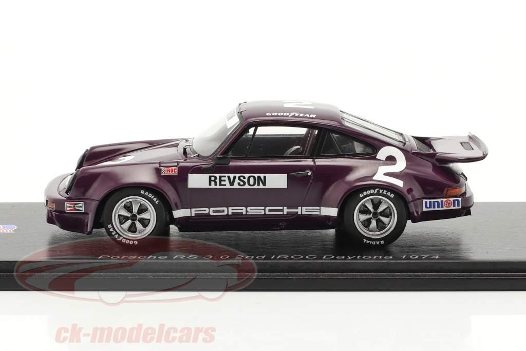 Porsche RS 3.0 #2 2e IROC Daytona 1974 P. Revson 1:43 Spark