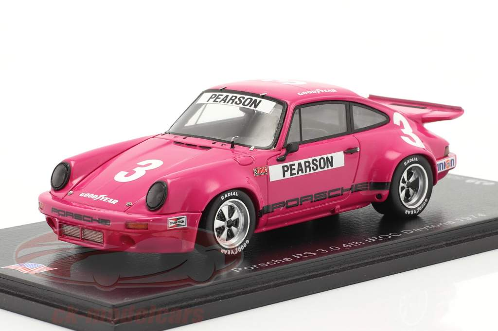 Porsche RS 3.0 #3 Cuarto IROC Daytona 1974 D. Pearson 1:43 Spark