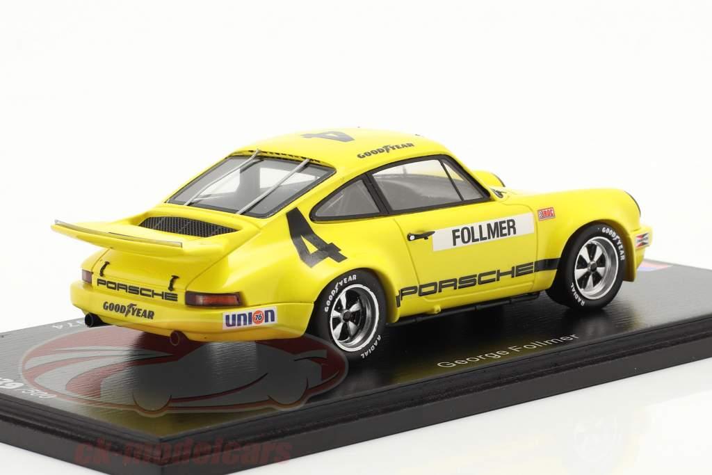 Porsche RS 3.0 #4 5. plads IROC Daytona 1974 G. Follmer 1:43 Spark