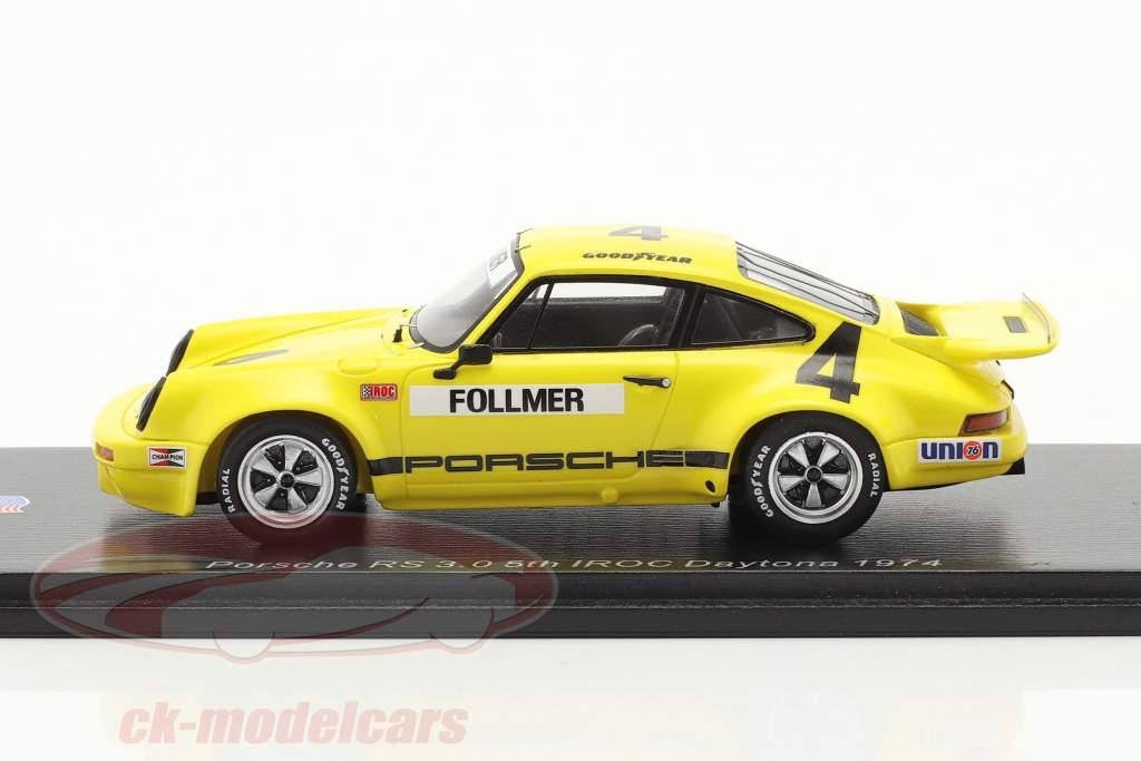 Porsche RS 3.0 #4 5e IROC Daytona 1974 G. Follmer 1:43 Spark