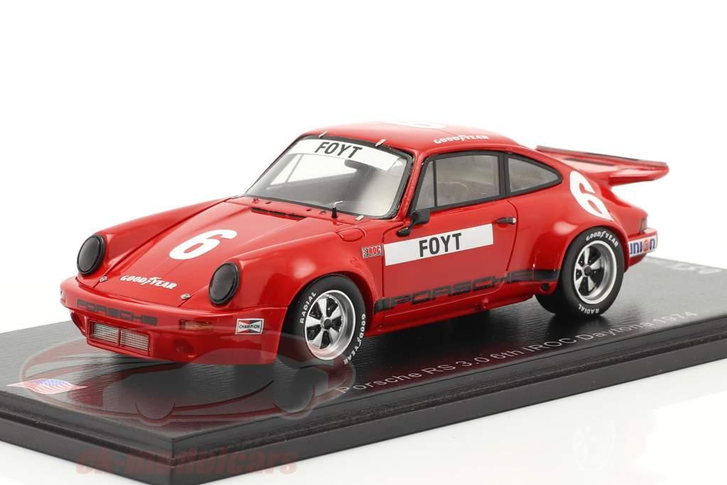 Porsche RS 3.0 #6 6e IROC Daytona 1974 A. J. Foyt 1:43 Spark