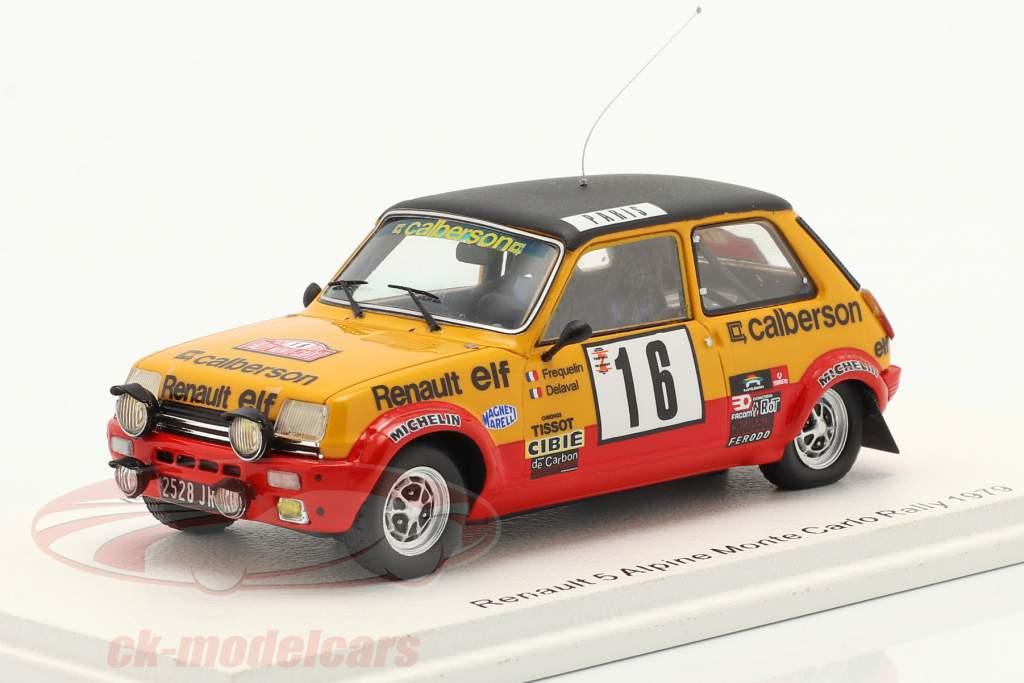 Renault 5 Alpine #16 8e Rallye Monte Carlo 1979 Frequelin, Delaval 1:43 Spark