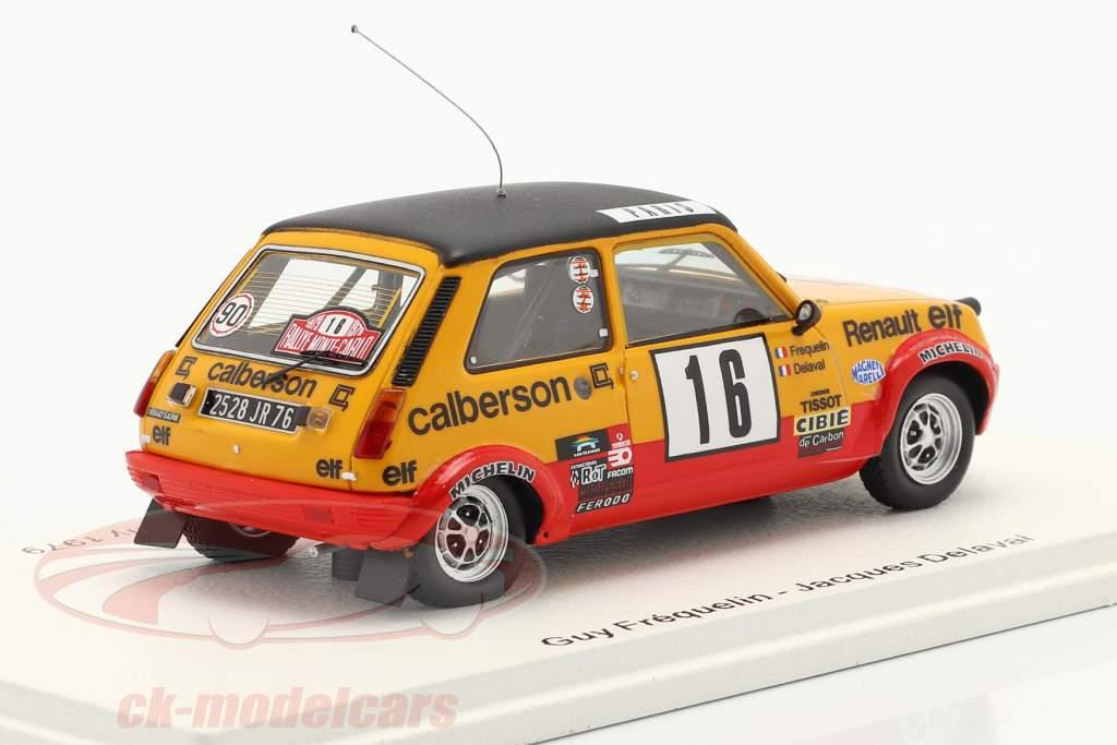 Renault 5 Alpine #16 8. Rallye Monte Carlo 1979 Frequelin, Delaval 1:43 Spark