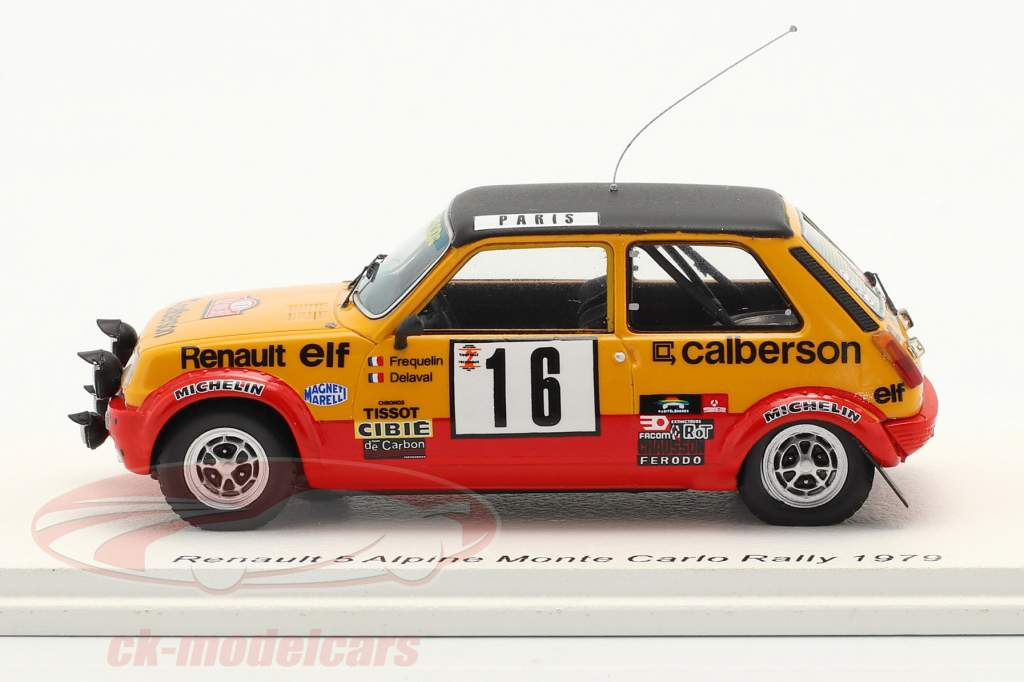 Renault 5 Alpine #16 8ste Rallye Monte Carlo 1979 Frequelin, Delaval 1:43 Spark