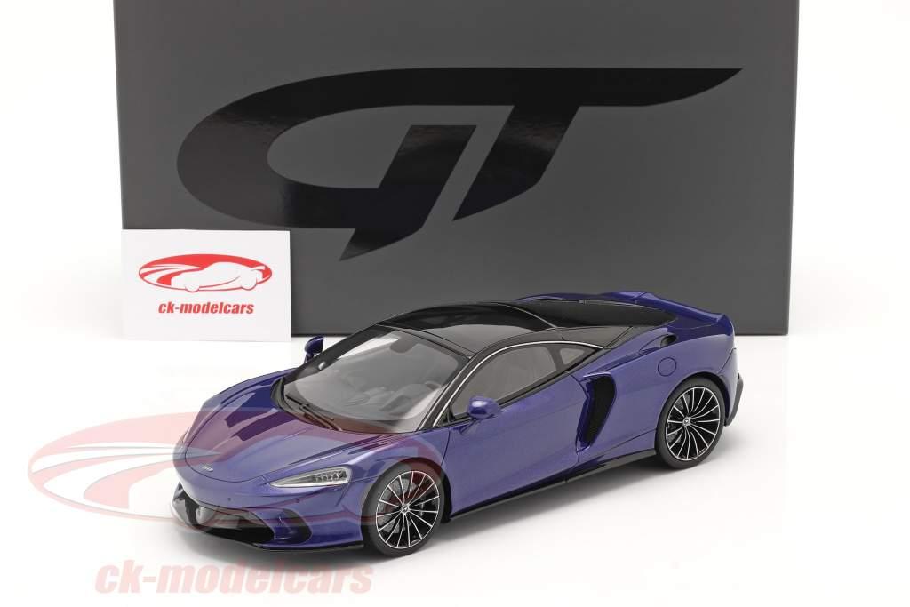McLaren GT Baujahr 2019 dunkelblau 1:18 GT-SPIRIT