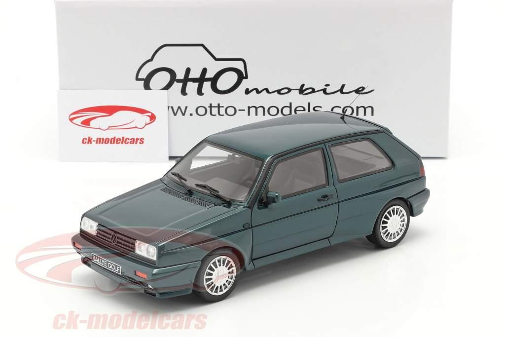 Volkswagen VW Golf G60 Rallye bouwjaar 1990 donkergroen 1:18 OttOmobile
