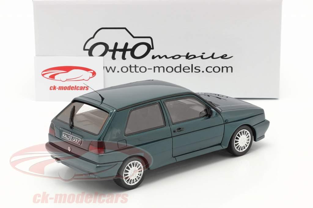 Volkswagen VW Golf G60 Rally year 1990 dark green 1:18 OttOmobile