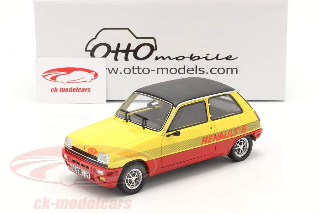 Renault R5 TS Montecarlo Année de construction 1978 rouge / jaune / noir 1:18 OttOmobile
