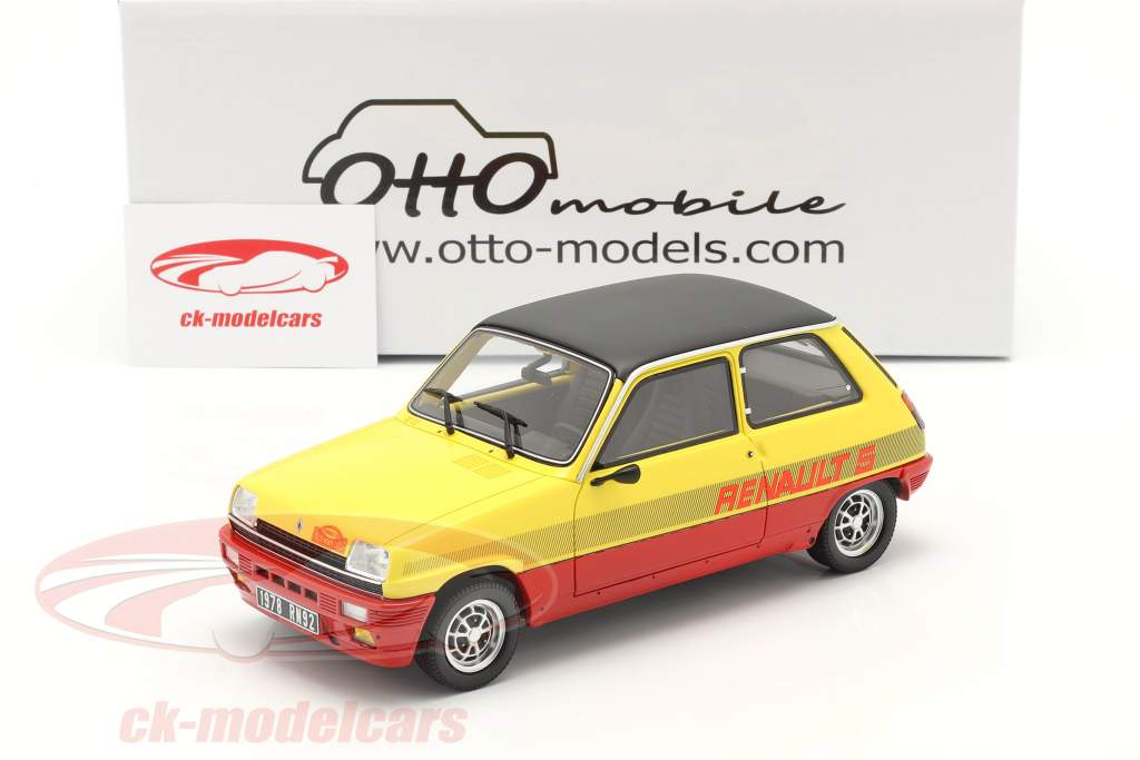 Renault R5 TS Montecarlo Año de construcción 1978 rojo / amarillo / negro 1:18 OttOmobile