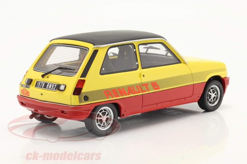 Renault R5 TS Montecarlo bouwjaar 1978 rood / geel / zwart 1:18 OttOmobile