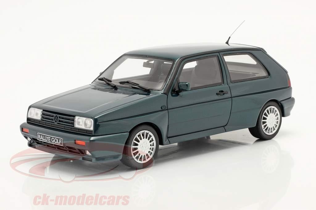 Volkswagen VW Golf G60 Rallye Année de construction 1990 vert foncé 1:18 OttOmobile