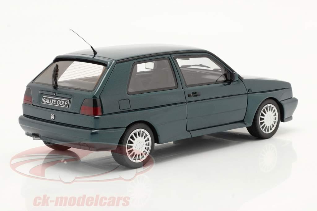 Volkswagen VW Golf G60 Rallye Anno di costruzione 1990 verde scuro 1:18 OttOmobile