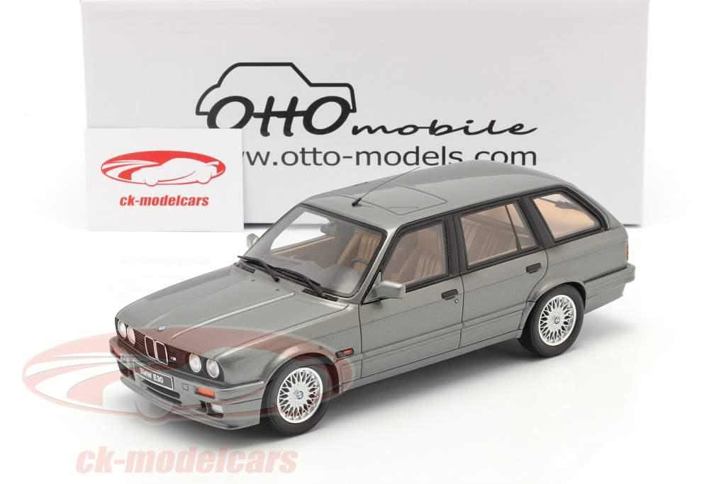 BMW 325i (E30) Touring Ano de construção 1991 cinza metálico 1:18 OttOmobile