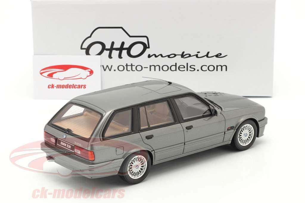 BMW 325i (E30) Touring bouwjaar 1991 Grijs metalen 1:18 OttOmobile