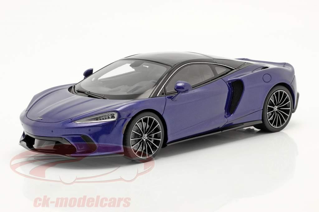 McLaren GT Año de construcción 2019 azul oscuro 1:18 GT-SPIRIT