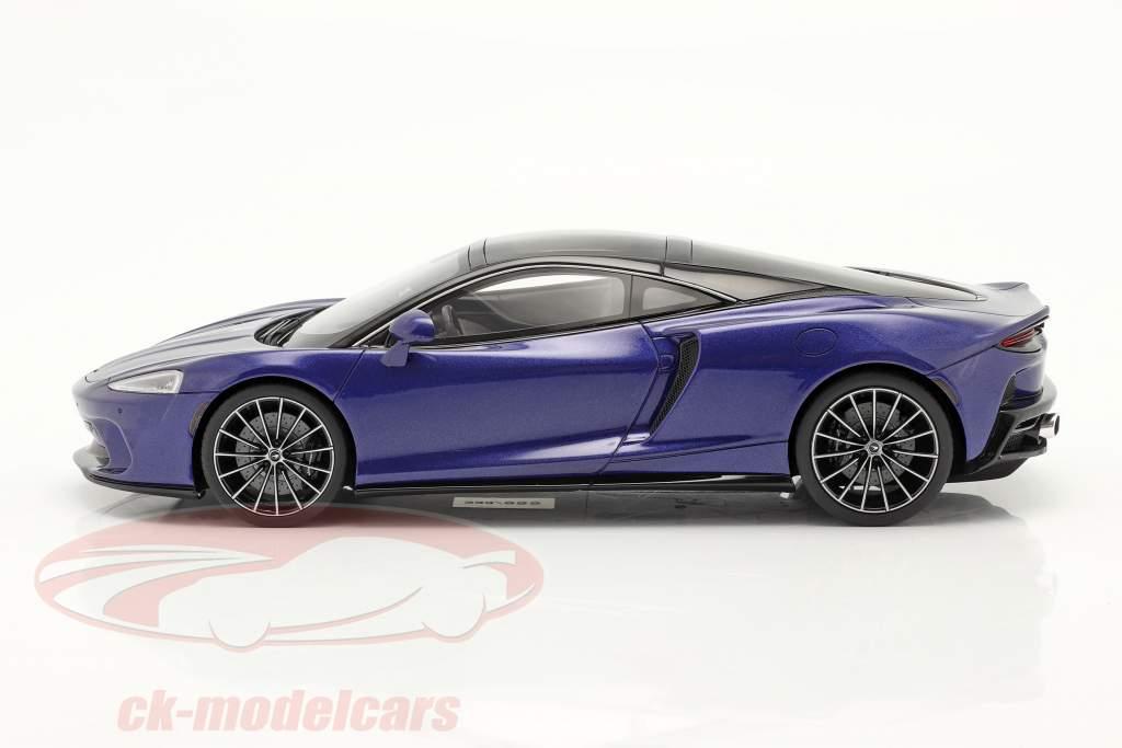 McLaren GT Ano de construção 2019 azul escuro 1:18 GT-SPIRIT