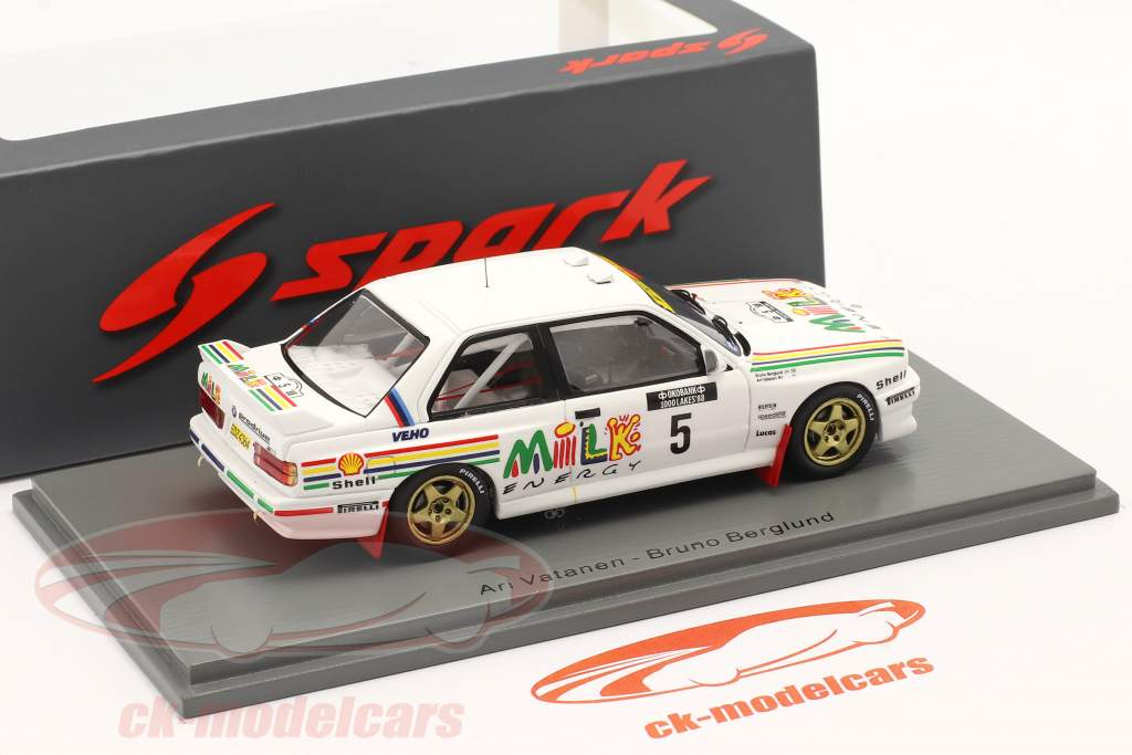 BMW M3 (E30) #5 1000 Lakes Rallye Финляндия 1988 Vatanen, Berglund 1:43 Spark