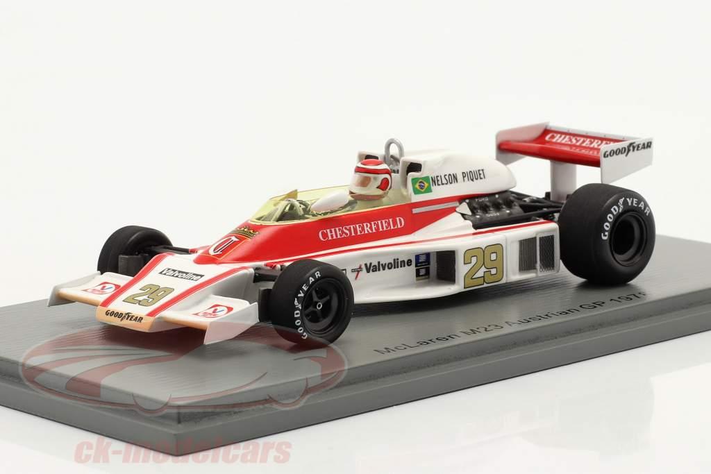 Nelson Piquet McLaren M23 #29 L'Autriche GP formule 1 1978 1:43 Spark