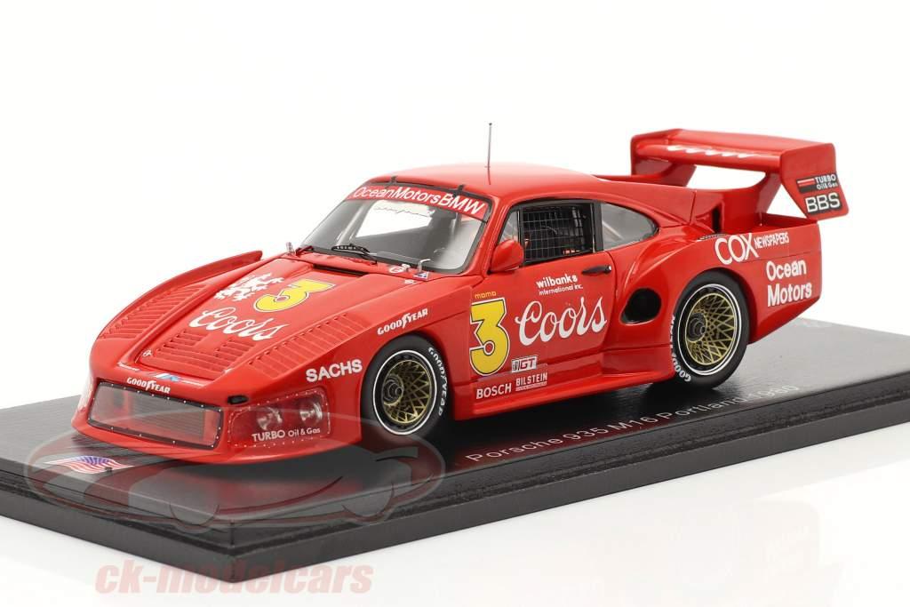 Porsche 935 M16 #3 Portland 100 Mijlen 1980 Jim Busby 1:43 Spark