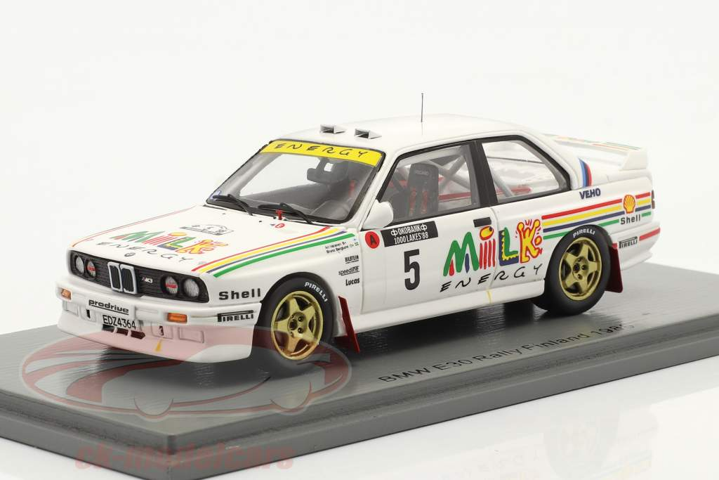 BMW M3 (E30) #5 1000 Lakes Rally Finland 1988 Vatanen, Berglund 1:43 Spark