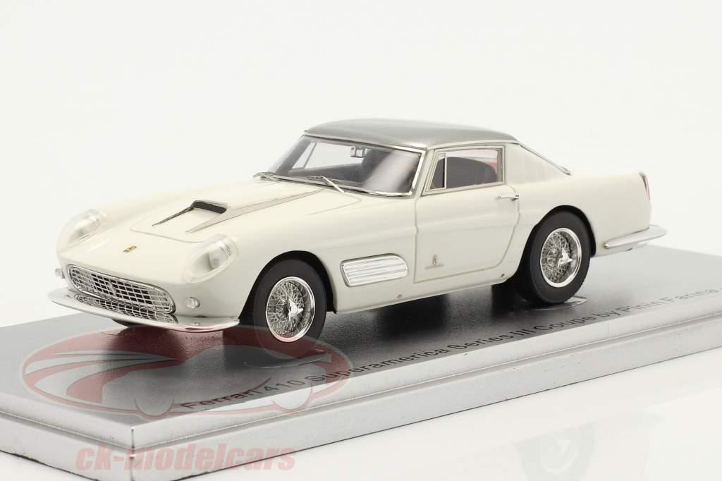 Ferrari 410 Superamerica Series III Coupe Année de construction 1958 blanc 1:43 KESS