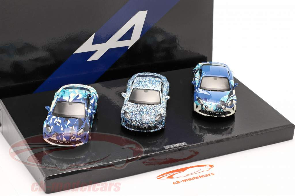3両 セットする Alpine Coffret A 110 Prototype 建設年 2017 迷彩 1:43 Norev