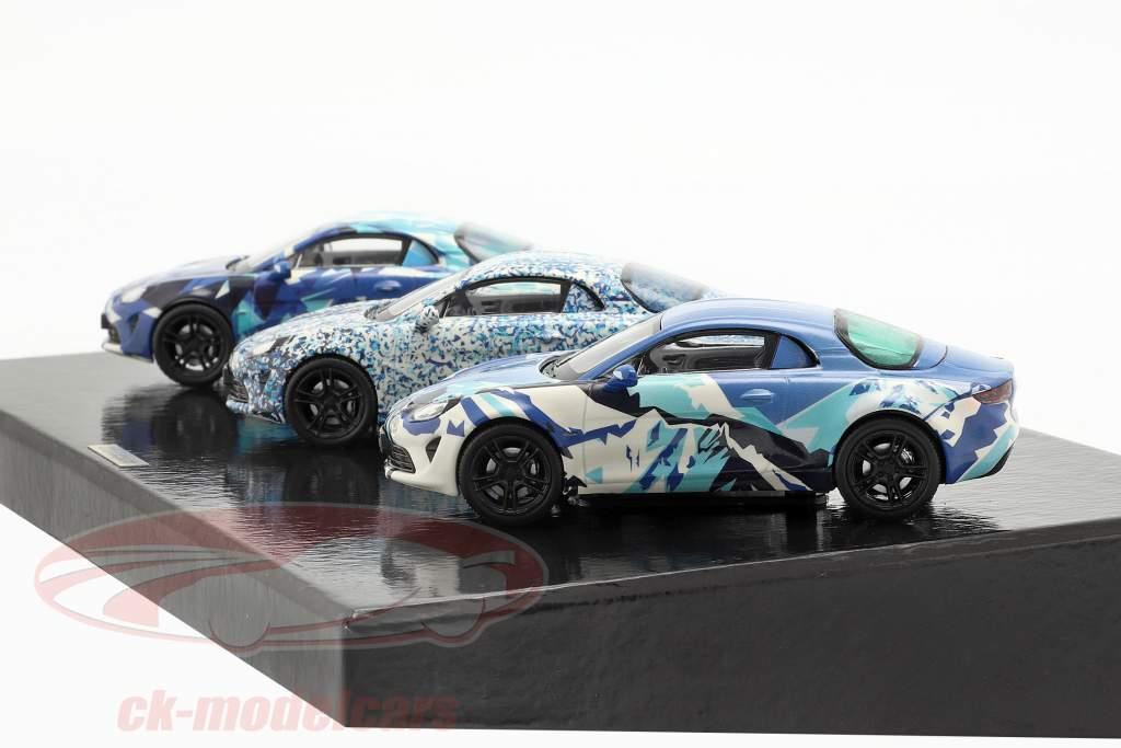 3-bil sæt Alpine Coffret A 110 Prototype Byggeår 2017 camouflage 1:43 Norev
