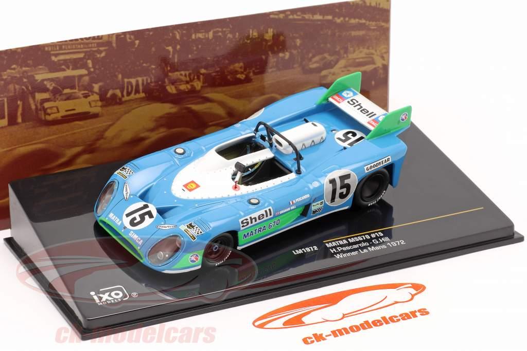 Matra MS670 #15 Winner 24h LeMans 1972 Pescarolo, Hill 1:43 Ixo