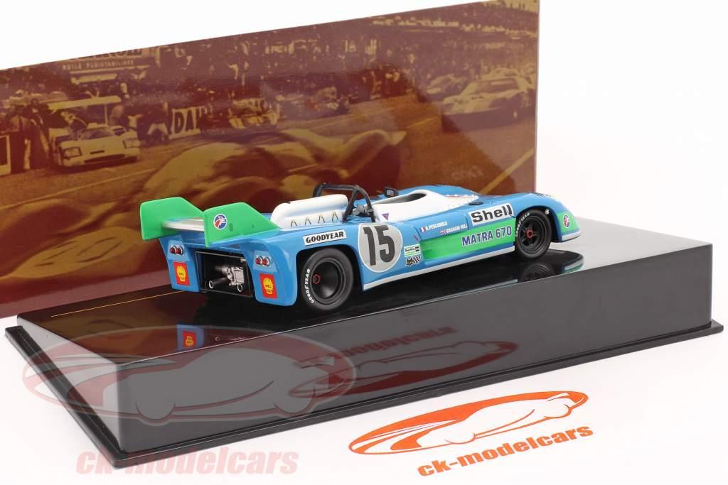 Matra MS670 #15 winnaar 24h LeMans 1972 Pescarolo, Hill 1:43 Ixo