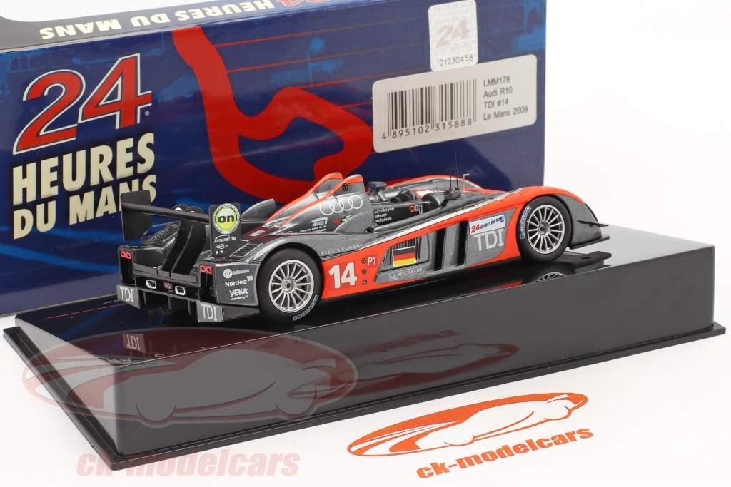 Audi R10 TDI #14 24h LeMans 2009 Karthikeyan, Zwolsman, Lotterer 1:43 Ixo