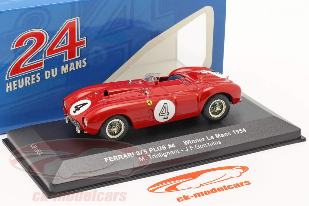 Ferrari 375 Plus #4 Ganador 24h LeMans 1954 Trintignant, Gonzales 1:43 Ixo