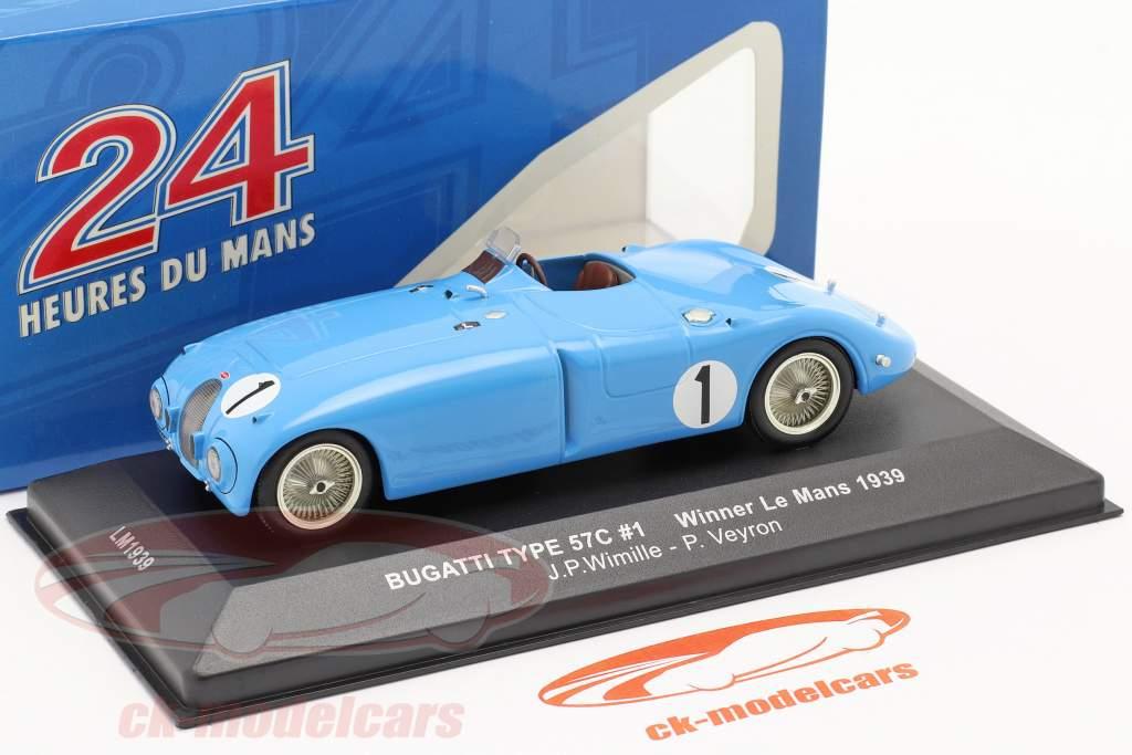 Bugatti Type 57C º 1 Wimille Veyron Winner LeMans 1939 1:43 Ixo