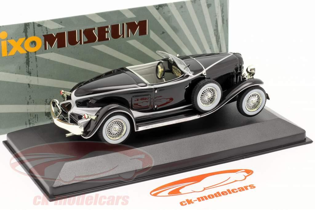 Auburn Boat Tail Roadster Année 1933 Noir / noir 1:43 Ixo