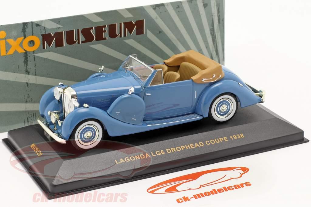 Lagonda LG6 Drophead Coupé Année 1938 bleu / bleu 1:43 Ixo