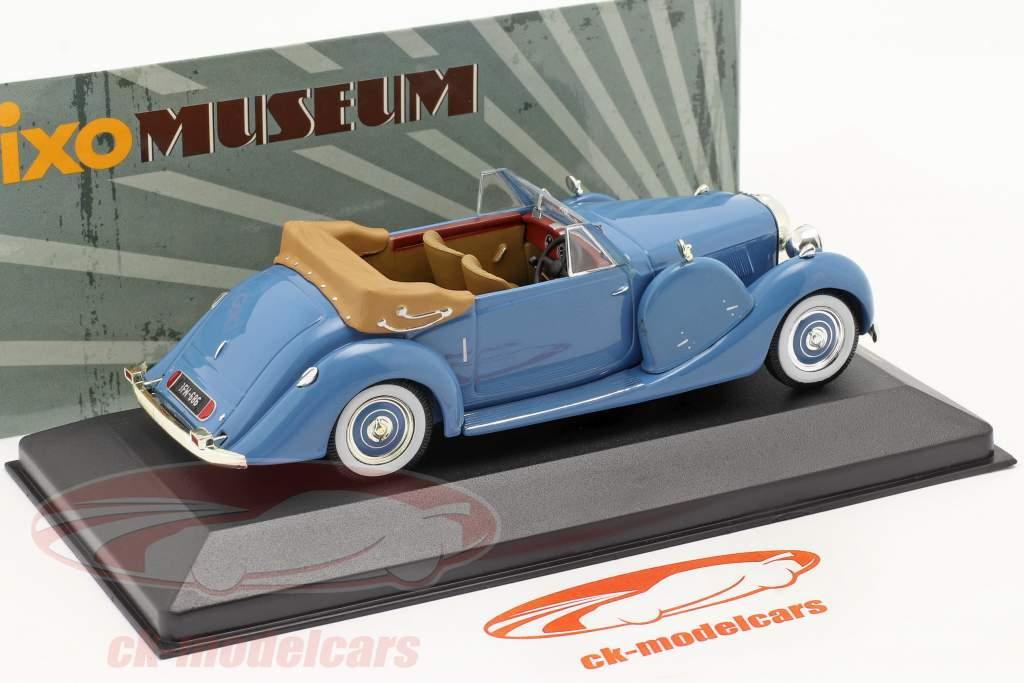 Lagonda Drophead Coupe LG6 Ano 1938 azul / blue 1:43 Ixo