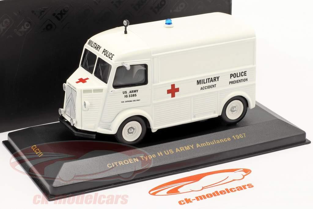 Citroën Type H Jaar 1967 het Amerikaanse leger Ambulance 1:43 Ixo