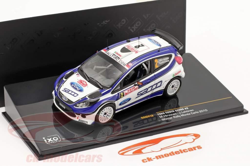 Ford Fiesta S2000 N° 2 Hirvonen Lehtinen Vincitore Rally di Monte Carlo 2010 1:43 Ixo