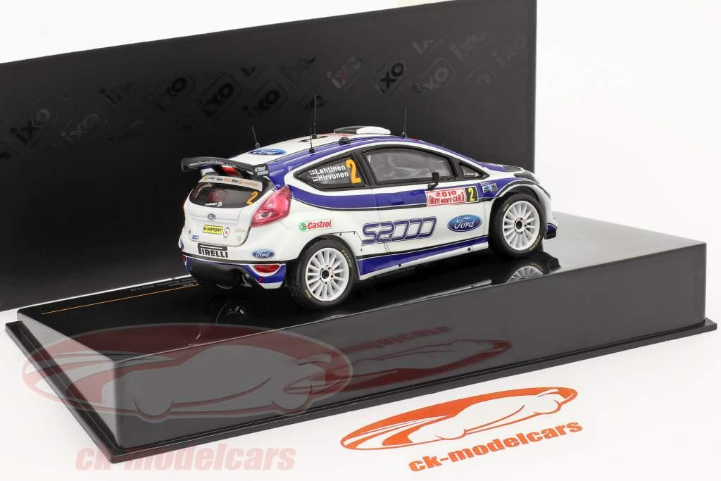 Ford Fiesta S2000 #2 Hirvonen Lehtinen Ganador Rally Monte Carlo 2010 1:43 Ixo