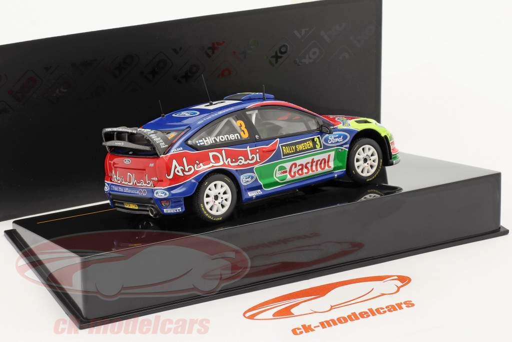 Ford Focus WRC #3 winnaar Rally Zweden 2010 Hirvonen, Lehtinen  1:43 Ixo