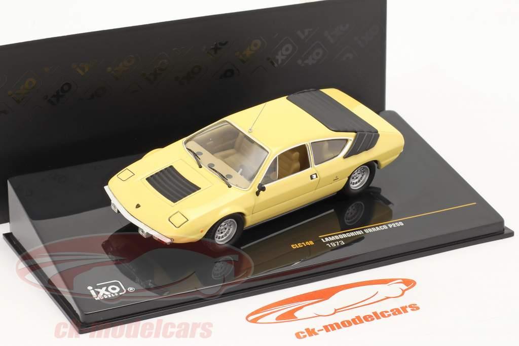 Lamborghini Urraco P250 Baujahr 1973 hellgelb 1:43 Ixo