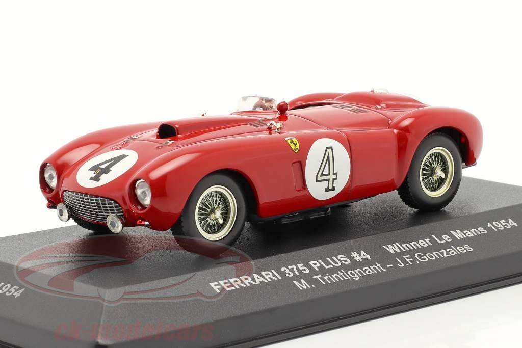 Ferrari 375 Plus #4 Gagnant 24h LeMans 1954 Trintignant, Gonzales 1:43 Ixo