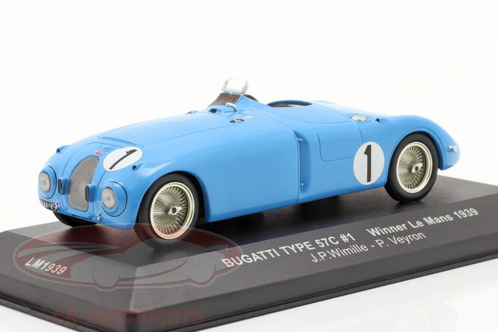 Bugatti Type 57C #1 Wimille Veyron Ganador LeMans 1939 1:43 Ixo