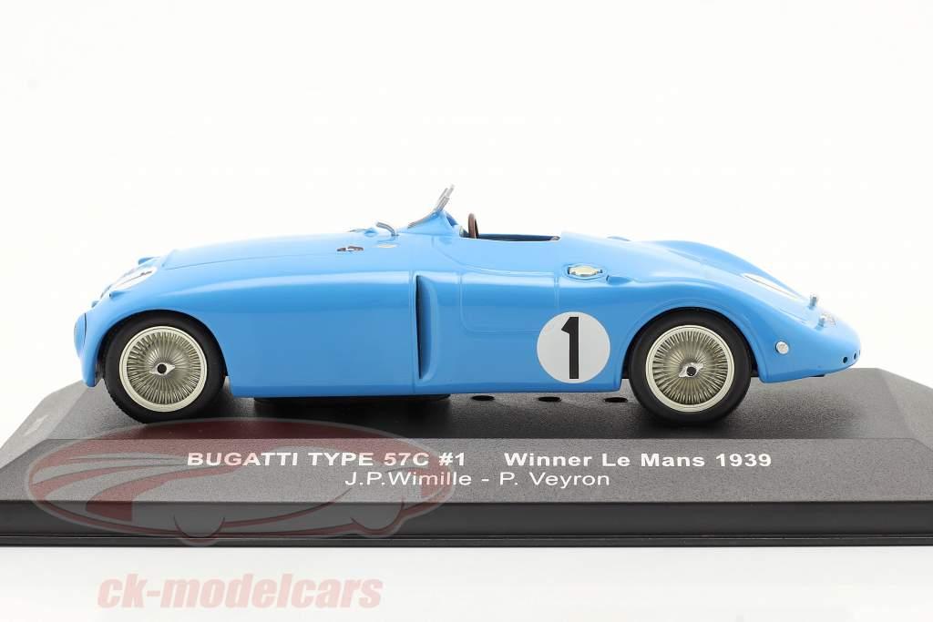 Bugatti Type 57C #1 Wimille Veyron Winnaar LeMans 1939 1:43 Ixo