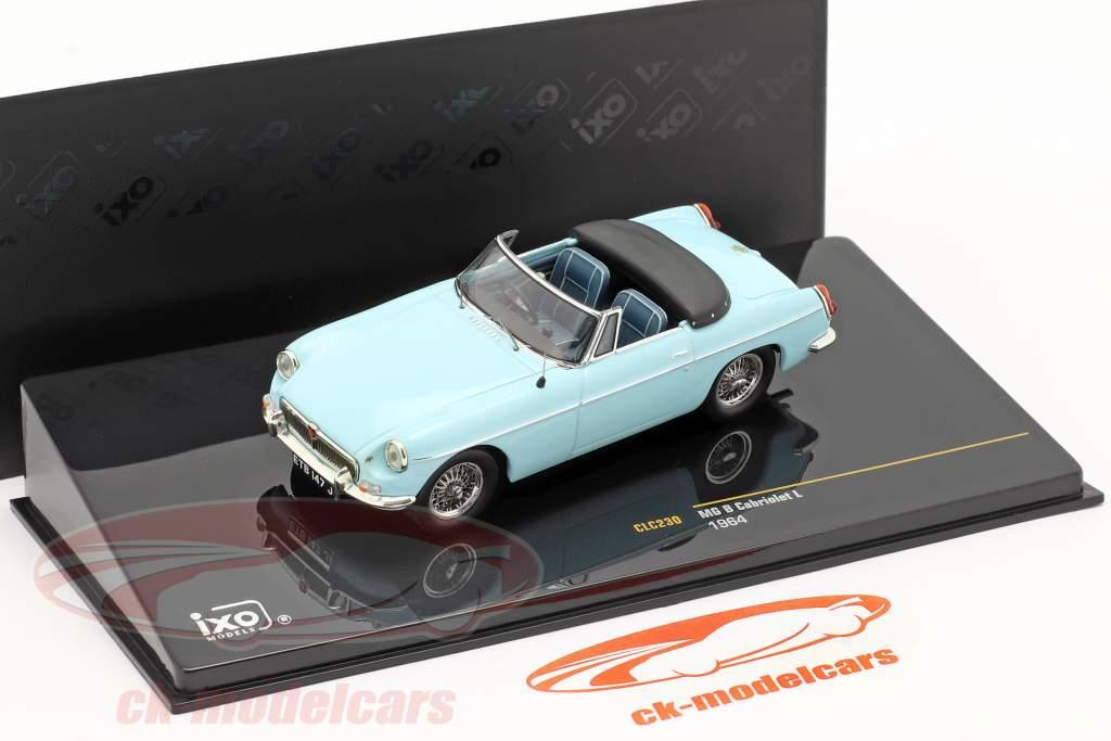MG B Cabriolet L Ano 1964 luz azul 1:43 Ixo