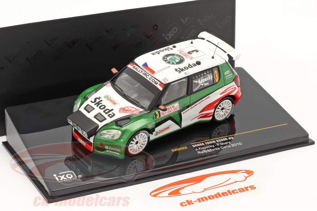 Skoda Fabia S2000 Kopecky #3, Stray Rally di Monte Carlo 2010 1:43 Ixo