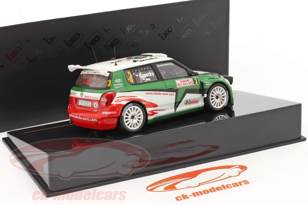 Skoda Fabia S2000 Kopecky #3, perdida Monte Carlo Rally 2010 una y cuarenta y tres Ixo