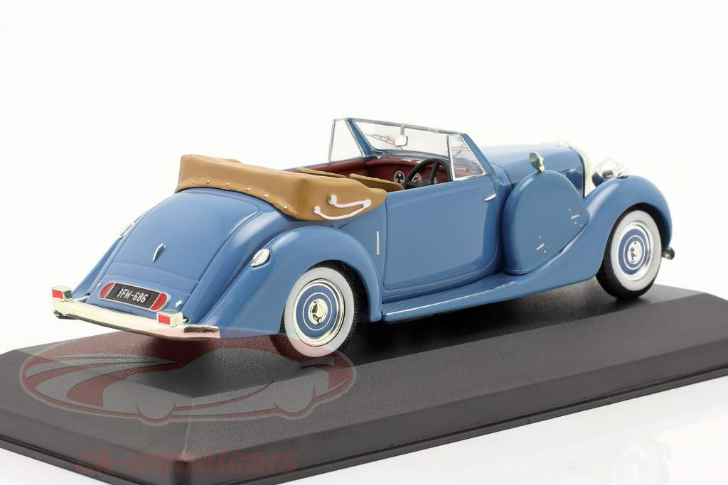 Lagonda LG6 Drophead Coupe Bj. 1938 blue 1:43 Ixo